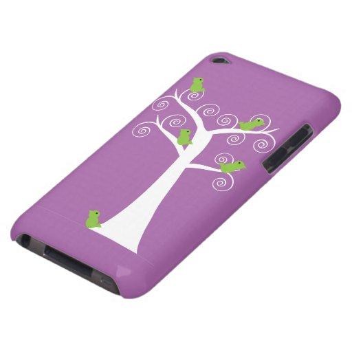 Cinco pájaros verdes en un caso del tacto de iPod  iPod Case-Mate Funda