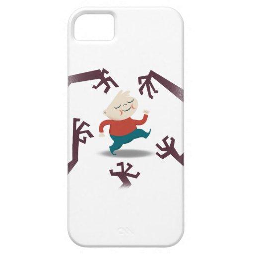Cinco pequeños zombis y engranaje de Fred iPhone 5 Protector