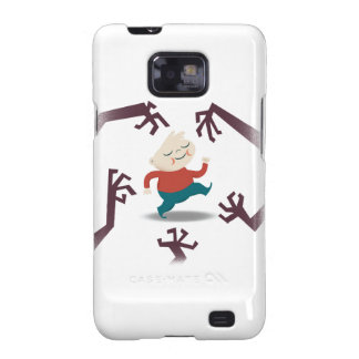 Cinco pequeños zombis y engranaje de Fred Samsung Galaxy S2 Funda
