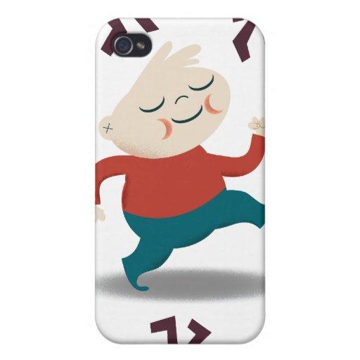 Cinco pequeños zombis y engranaje de Fred iPhone 4/4S Fundas