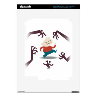 Cinco pequeños zombis y engranaje de Fred iPad 3 Pegatina Skin