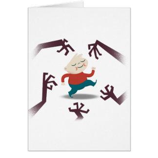 Cinco pequeños zombis y engranaje de Fred Tarjeta De Felicitación
