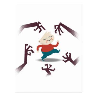 Cinco pequeños zombis y engranaje de Fred Tarjeta Postal