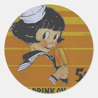 Cinco Popsicles del centavo Pegatina Redonda