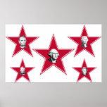 Cinco presidentes Design de la estrella Posters