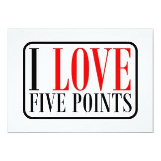 """Cinco puntos de Alabama Invitación 5"""" X 7"""""""