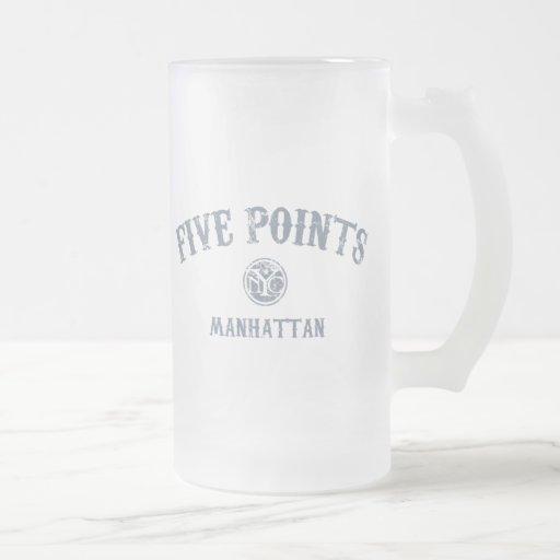 Cinco puntos taza de café