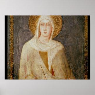 Cinco santos, detalle de St. Clare Póster
