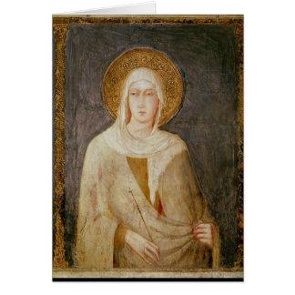 Cinco santos detalle de St Clare Tarjeta