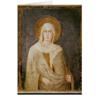 Cinco santos, detalle de St. Clare Tarjeta De Felicitación