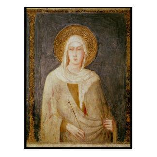 Cinco santos, detalle de St. Clare Tarjeta Postal