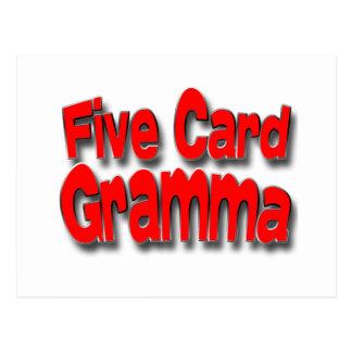 Cinco tarjeta Gramma Tarjetas Postales