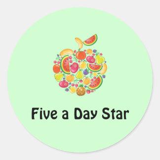 Cinco un pegatina del día