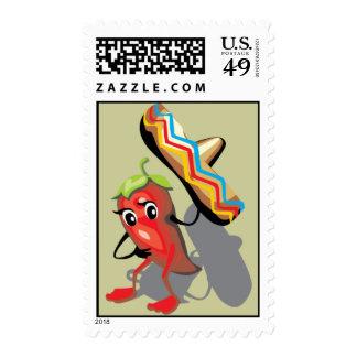 CincoDeMayo-050 RED HOT CHILI PEPPER SOMBRERO HAT Postage