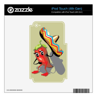 CincoDeMayo-050 RED HOT CHILI PEPPER SOMBRERO HAT iPod Touch 4G Skins