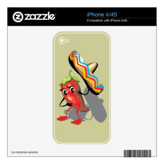 CincoDeMayo-050 RED HOT CHILI PEPPER SOMBRERO HAT Skins For iPhone 4