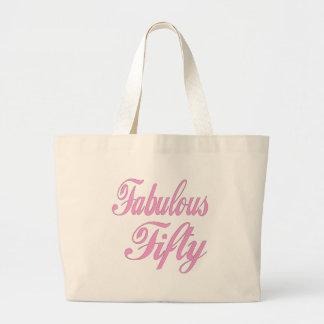 Cincuenta 50.os regalos de cumpleaños fabulosos bolsa de tela grande