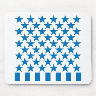 Cincuenta barras y estrellas - azul tapete de raton