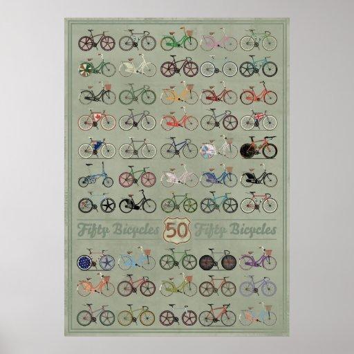 Cincuenta bicicletas impresiones