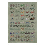 Cincuenta bicicletas póster