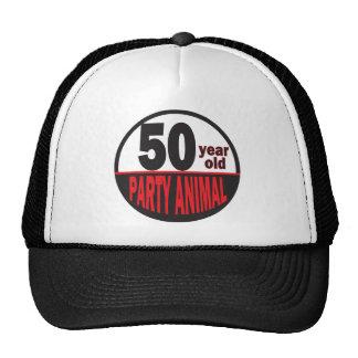 Cincuenta cumpleaños del juerguista | de los años gorras