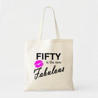 Cincuenta es los nuevo fabulosos bolsa tela barata