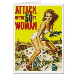 Cincuenta mujeres del extranjero del pie tarjeta pequeña