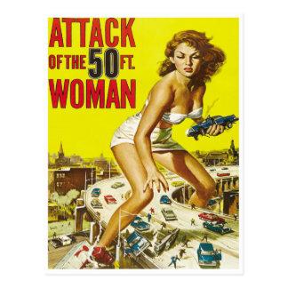 Cincuenta mujeres del extranjero del pie postal