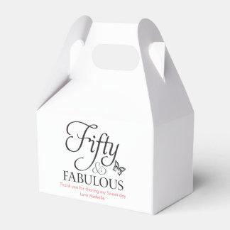 Cincuenta y caja fabulosa del cumpleaños del favor cajas para regalos