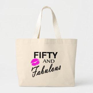 Cincuenta y fabuloso bolsa tela grande
