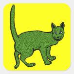 cindarella verde calcomanías cuadradases