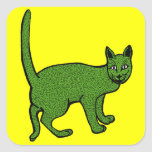 cindarella verde pegatina cuadrada