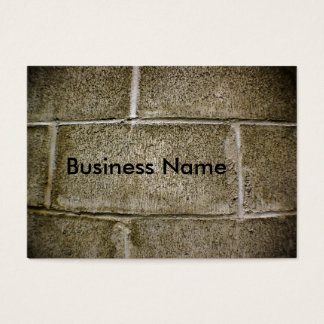 cinder block wall decay business card
