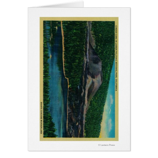 Cinder Cone in Lassen Volcanic National Park Card