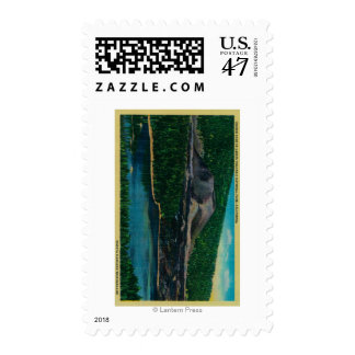 Cinder Cone in Lassen Volcanic National Park Stamp