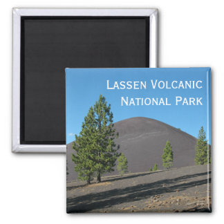 Cinder Cone, Lassen Volcanic National Park, CA 2 Inch Square Magnet