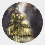Cinder Girl Round Sticker