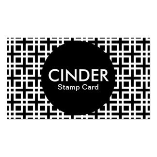 cinder stamp card business card template