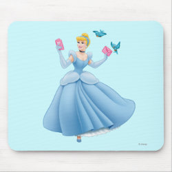 Mousepad with Dancing Cinderella with Birds design