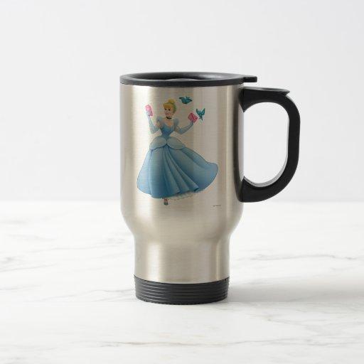 Cinderella and Birds 15 Oz Stainless Steel Travel Mug