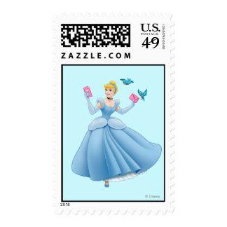 Cinderella and Birds Postage