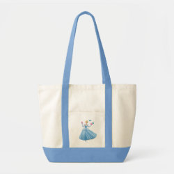 Impulse Tote Bag with Dancing Cinderella with Birds design