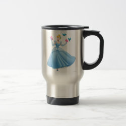 Travel / Commuter Mug with Dancing Cinderella with Birds design