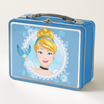Cinderella And Blue Bird Metal Lunch Box