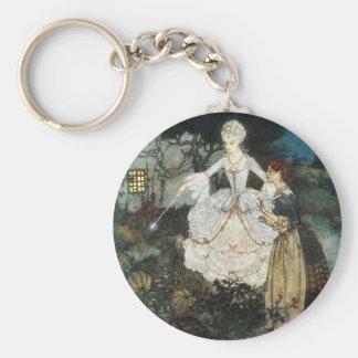 Cinderella and Fairy Godmother Keychain