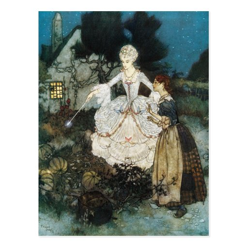 Cinderella and Fairy Godmother Postcard