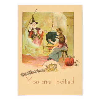 Cinderella And Her Fairy God Mother 5x7 Paper Invitation Card