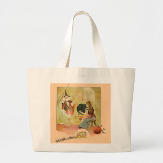 Cinderella And Her Fairy God Mother Jumbo Tote Bag