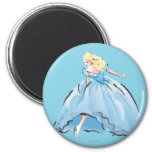 Cinderella And Her Glass Shoe 2 Inch Round Magnet