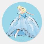 Cinderella And Her Glass Shoe Classic Round Sticker